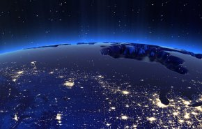 Canada and USA city lights at night